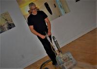 Sablage de plancher sans poussière*