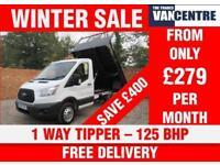 FORD TRANSIT 350 L2 1 WAY TIPPER MWB 125 BHP 3 SEATS