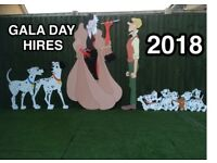 GALA DAY GARDEN CHARACTERS FOR HIRE £100