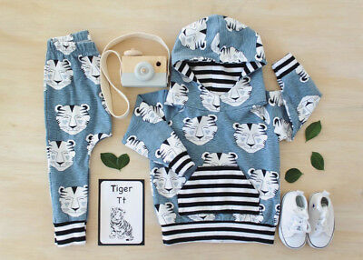 Newborn Baby Boy Girl Clothes Hoodies Tops Coat Pants Casual Outfits Set 0-2T US