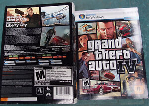 Grand theft auto IV video games for Windows