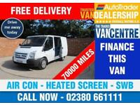 FORD TRANSIT 300 SWB LOW ROOF 100 BHP AIR CON HEATED SCREEN 3 SEATS