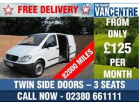 MERCEDES BENZ VITO 111 CDI COMPACT SWB 111 BHP TWIN SIDE DOORS 3 SEATS