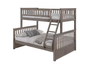 Duncan Bunk Bed - Solid Wood Twin Full in 6 Colors, 4 All Ages.