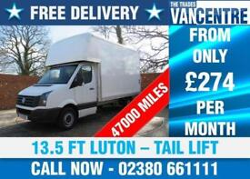 VOLKSWAGEN CRAFTER CR35 TDI LWB 13.5 LUTON 101 BHP TAIL LIFT 3 SEATS