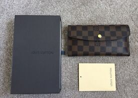 Louis Vuitton Wallet Damier Ebene Canvas - CODE LV4