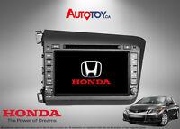 Honda Civic OEM Fit Navigation Bluetooth GPS & DVD System 2012