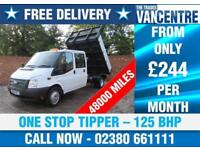 FORD TRANSIT 350 1 WAY DOUBLE CAB LWB 125 BHP ONE STOP TIPPER 6 SEATS