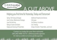 Spring Clean up, Planting, Lawn Care, Grass Cutting, Landscape