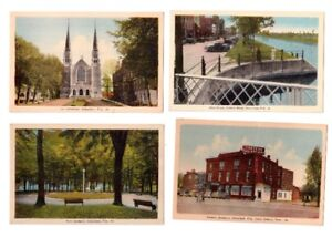 6 cartes postales anciennes de Valleyfield .