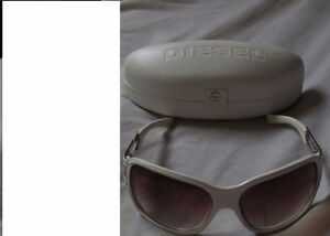 BRAND NEW WHITE  LADIES SUN GLASSES BY '' DIESEL '' FOR SALE