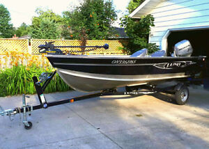 16 ft Lund Fury with Honda motor and trailer $10500 OBO