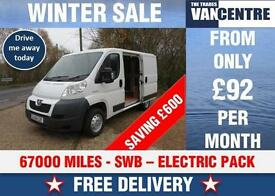PEUGEOT BOXER 330 SWB L1 H1 100 BHP ELECTRIC PACK WAS £5270 SAVE £600