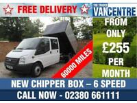 FORD TRANSIT 350 DOUBLE CAB LWB ONE WAY TIPPER 125 BHP NEW CHIPPER BOX