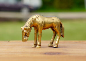 BRASS & PORCELAIN COLLECTIBLE HORSES Kingston Kingston Area image 1
