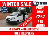 FORD TRANSIT CUSTOM 290 L1 H1 DOUBLE CAB SWB 100 BHP BLUETOOTH 6 SEATS