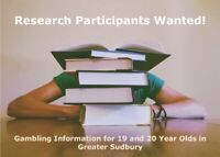 19 or 20 Years Old and Live in Sudbury? Focus Groups on Gambling