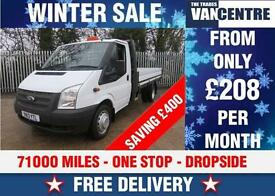 FORD TRANSIT LWB EF DROPSIDE 125 BHP ONE STOP WAS £11270 SAVE £400