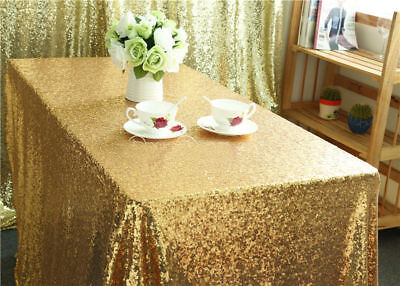 US Rectangular Sequin Tablecloth Table Cloth Wedding Party Event Decor 100*150cm