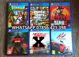 PS4 Games Crash Bandicoot GTA V 5 Red Dead Friday 13th Assetto Corsa
