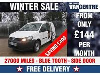 VW CADDY C20 TECH 1.6 TDI SWB 102 BHP BLUE TOOTH SIDE DOOR WAS £7870 SAVE £400