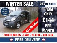VAUXHALL VIVARO 2900 SPORTIVE 115 BHP BLACK AIR CON WAS £7870 SAVE £400