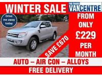 FORD RANGER 4 X 4 LIMITED DOUBLECAB 150 BHP AUTOMATIC LEATHER AIR CON 5 SEATS