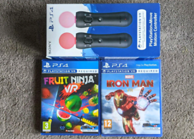 PS4 VR Move Controllers Playstation PSVR PS4VR PS5 VR Wands Game PS VR