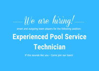Experienced Pool Service Technician