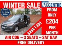 FORD TRANSIT CONNECT 200 LIMITED SWB 115 BHP AIR CON SAT NAV 3 SEATS