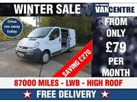 VAUXHALL VIVARO SWB 2700 1.9 CDTI EX BT SIDE DOOR RACKING WAS £4270 SAVE £270