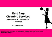 REST EASY CLEANING SERVICES HAS A SPOT TO CLEAN FOR YOU!!!