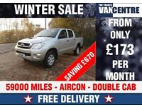 TOYOYA HILUX 2.5D 144 BHP 4X4 4WD HL2 DOUBLE CAB AIR CON WAS £9670 SAVE £670
