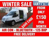 FORD TRANSIT 350 MWB HIGH ROOF TREND 125 BHP AIR CON BLUETOOTH 3 SEATS