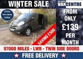 VAUXHALL VIVARO LWB SPORTIVE BLACK TWIN SIDE DOORS WAS £7670 SAVE£500