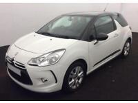 2013 WHITE CITROEN DS3 1.6 VTI 120 DSTYLE PETROL HATCH CAR FINANCE FR £20 PW