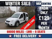 FORD TOURNEO 230 CONNECT LWB 90 BHP 8 SEATS WAS £7070 SAVE £400