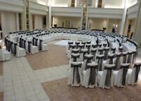 RENT CHAIR COVERS, LINENS, WEDDING BACKDROPS - DEALS !!!