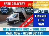 FORD TRANSIT 350 L2 MWB 1 WAY TIPPER 125 BHP NEW CHIPPER BOX TOOL BOX 3 SEATS