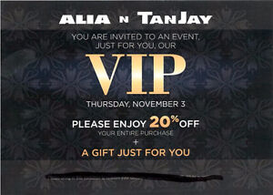 Alia N Tanjay 20%off  Entire Purchase - Regent Mall