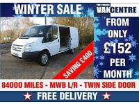 FORD TRANSIT 350 MWB LOW ROOF 125 BHP TWIN SIDE DOORS WAS £8270 SAVE £400