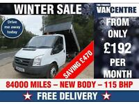 FORD TRANSIT 350 MWB 2.4 TDCI 115 BHP BRAND NEW TIPPER BODY WAS £10470 SAVE £470