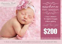 Newborn Photography Session ~ Starting at $200
