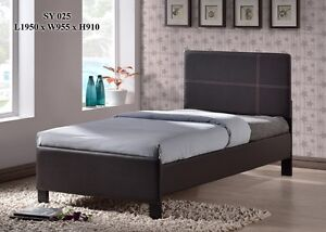 FAUX LEATHER PLATFORM BED ONLY $169 LOWEST PRICES