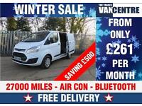 FORD TRANSIT CUSTOM 290 L1 H1 TREND SWB AIR CON BLUE TOOTH WAS £14170 SAVE £500