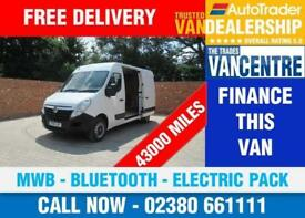 VAUXHALL MOVANO F3500 L2 H2 MWB 100 BHP BLUETOOTH ELECTRIC PACK 3 SEATS