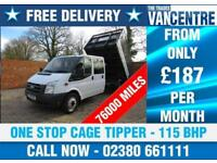 FORD TRANSIT 350 DOUBLE CAB ONE WAY TIPPER LWB 115 BHP ONE STOP CAGE TIPPER