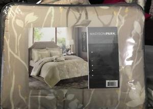 Madison Park Vaughn Comforter Set 9pc FuLL BNIB