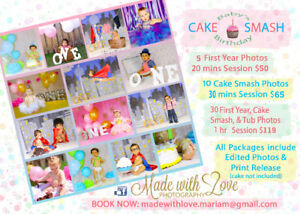 Cake Smash - Birthday - Made with Love Photography
