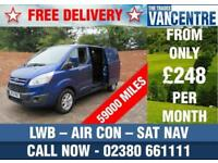 FORD TRANSIT CUSTOM 310 L2 H1 LIMITED LWB 155 BHP AIR CON SAT NAV 3 SEATS